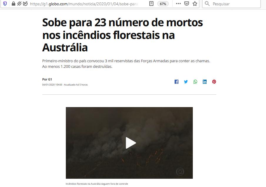 CM artigo OJA - sobe para 23 numero de incendios